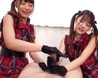 外神田の痴女アイドルがW乳首舐め手コキと亀頭責めで男の潮吹きさせる!桜もこ 永瀬ゆい