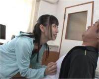 競泳水着の小悪魔痴女JKがM男教師を徹底乳首責め!七沢みあ