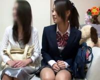 母親とマッサージに来た美少女JK女子高生が騙されて中出しされ絶頂アクメ!