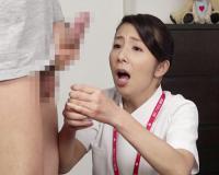 【おばさんナース】「あぁっ!ご、ごめんね…」精子採取に失敗したスレンダー巨乳おっぱい人妻熟女看護師が体を使って精子を採取