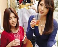【人妻熟女NTR】「酔っちゃいましたぁ♡」スレンダー巨乳おっぱいの美魔女おばさんが会社の飲み会で泥酔し、寝取られた!!w