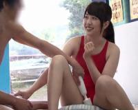 [マジックミラー号]スク水姿の女子大生水泳部!ゲームでお互いのHな姿を見せ体は火照り肉棒を挿入w