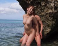(希崎ジェシカ)エロBODY美女がビーチで垢すり顔騎に濃厚フェラ&パワーピストンぶっかけSEX!