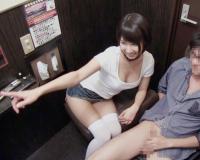 【湊莉久】「やだ♥なにみてるのw」個室にやってきたAV女優とのイチャラブセックス♥