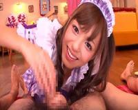 【希志あいの】 かわいいメイドさんがご主人様にフェラや手コキサービスしちゃいます。