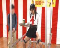 空気椅子チャレンジした美女が彼の前で色々されちゃいます。 星奈あい