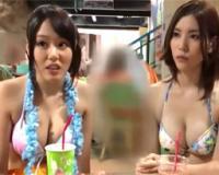 ビキニ姿の巨乳S級美女2人組をプールでナンパして、ノリノリだったので、2人まとめて楽しくハメ撮りSEX♡