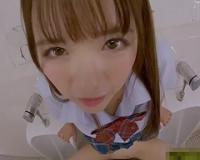 永瀬ゆい 白昼に学校の男子トイレで堂々とボクと主観中出しSEXをしてくれちゃう小悪魔美少女JK!