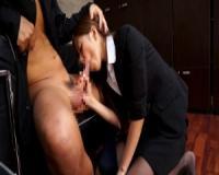 星野梨愛・フェラ抜き精飲「ん...ズポ♪...ん」美巨乳秘書が上司をフェラチオし口内射精したザーメンを飲み干す