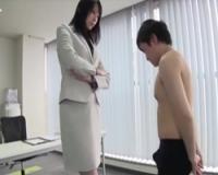 身長180cm長身女社長のやりすぎ圧迫面接!名森さえ