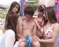 【マジックミラー】真夏のビーチで逆ナンパ!高級ソープ嬢が素人男性の精子を搾り取る痴女プレイの即キス、即尺、スケベ椅子!