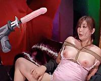 [八田愛梨]緊縛されたむっちり巨乳M女がマシンバイブSM調教の餌食となり高速ピストンに絶頂しながら膣内掻き回される