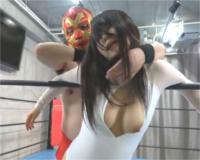 むっちり巨乳美女VSマスクマンがミックスファイト!スケベ技全開♡エロプロレス (*´Д`)ハァハァ