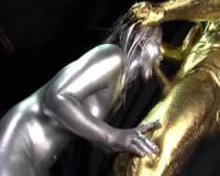 【上原亜衣】上原亜衣 全身銀粉に包まれる巨乳女神が金粉チンコを激しくイラマチオに鼻フックで顔面崩壊【tube8】